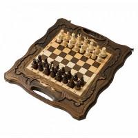Шахматы резные с Араратом, ручкой и ложементом 40 Haleyan