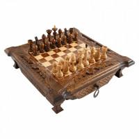 Шахматы резные в ларце с ящиками 50 Haleyan