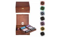 Набор для покера Ultimate VIP на 250 фишек Орех