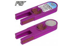 Инструмент для обработки наклейки Ulti-Mate Cue Tip Tool фиолетовый
