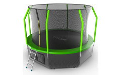 Батут EVO JUMP Cosmo 12ft (Green) + Lower net