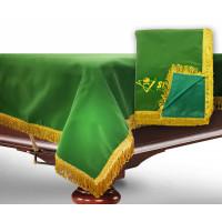 Чехол для б/стола 12-3 (зеленый с желтой бахромой, без логотипа)