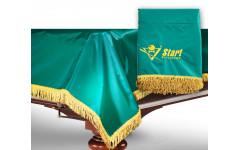 Чехол для б/стола 7-2 (зеленый с желтой бахромой, без логотипа)