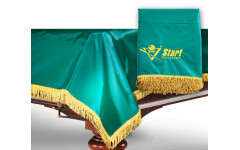 Чехол для б/стола 12-2 (зеленый с желтой бахромой, с логотипом)