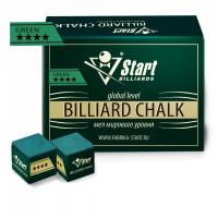 Мел Startbilliards 4 звезды зеленый (72шт)