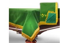 Чехол для б/стола 10-3 (зеленый с желтой бахромой, без логотипа)