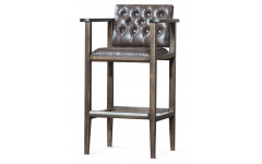 Кресло бильярдное (мягкое сиденье + мягкая спинка, цвет коричневый)