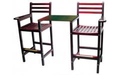 Кресло бильярдное x 2, со столешницей (махагон) 90.005.00.1