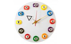 Часы настенные «12 шаров» D20,5 см (белые), пластик