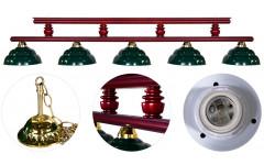 Лампа на пять плафонов