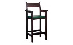 Кресло бильярдное из ясеня (мягкое сиденье, цвет махагон)